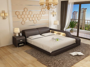 Las Vegas Modern Leather Bed