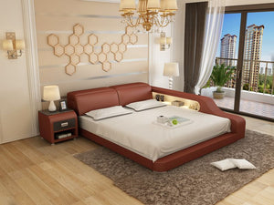 Queen Size Leather Bed