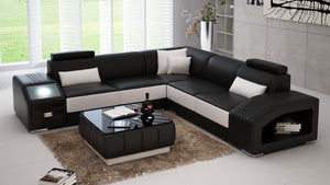 Baiae Modern Leather Sectional