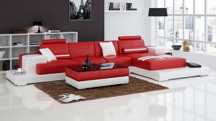 Halsey Small Modern Leather Sectional