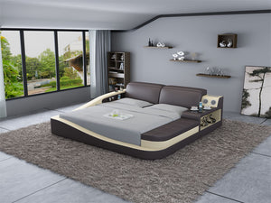 Rebino Leather Bed With Storage