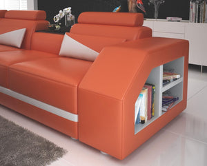 Leather Sectional With Storage