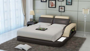 Nathanson Leather Bed With Storage - Jubilee Home Furniture