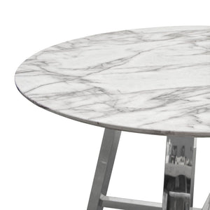 Politure Round Dining Table