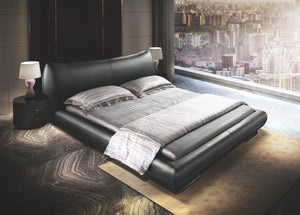 Bazar Black Leather Bed