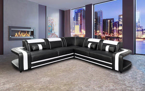 Norma Modern Leather Sectional