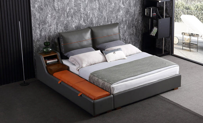 Albion Modern Leather Bed With Storage | Timeless Furniture