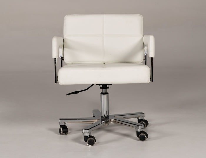 Cirin Modern White Bonded Leather Office Chair