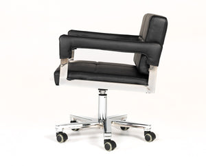 Croci Modern Black Bonded Leather Office Chair