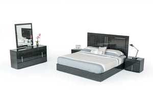 Axman Italian Modern Grey Bedroom Set
