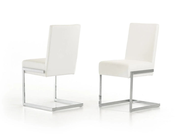 Bazccn- Modern White Dining Chair (Set of 2)