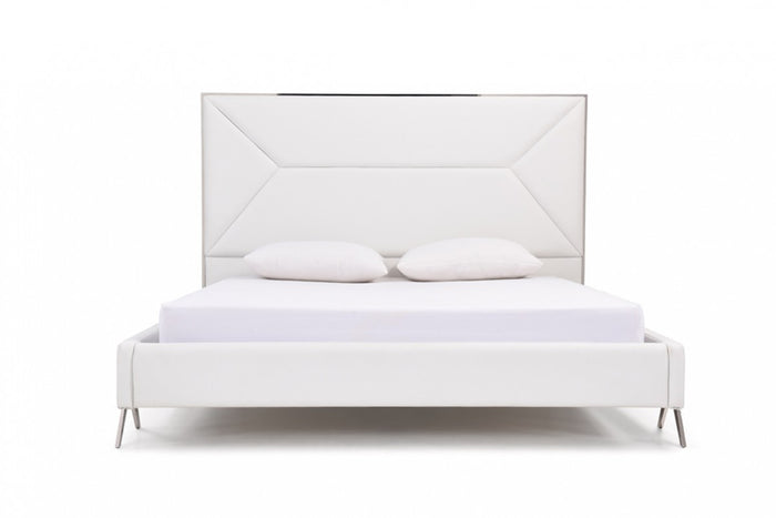 Cath Modern White Bed