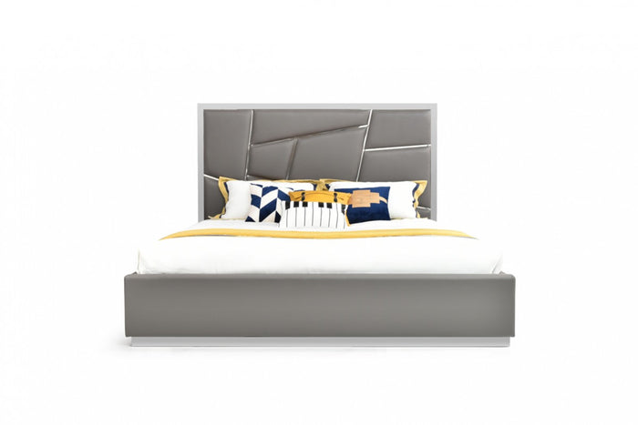 Ceremy Modern Grey Bed