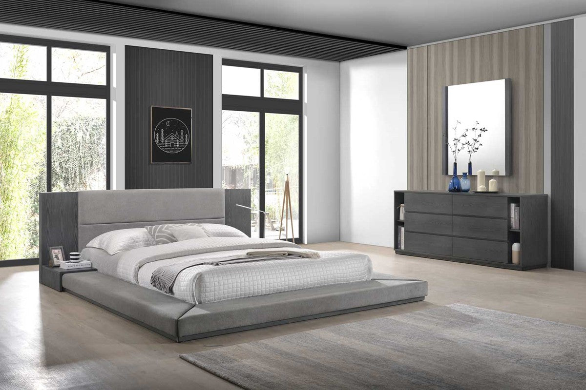 Jabi Modern Grey Bedroom Set