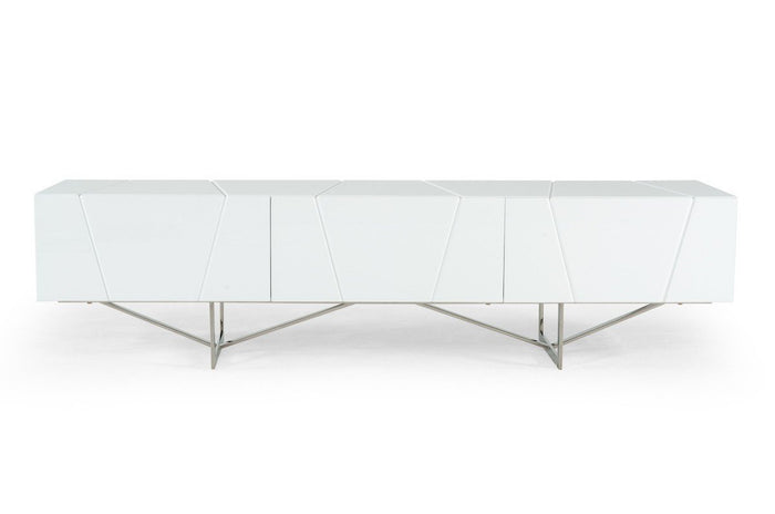 Modrest Blossom Modern White TV Stand