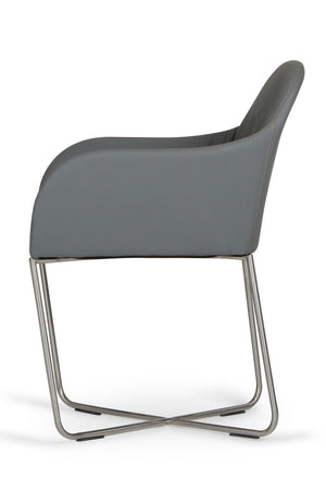 Dining Chair With Stainless Steel Leg