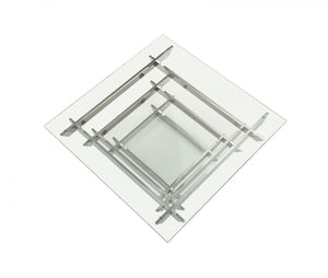 Upa Modern Square Glass Coffee Table