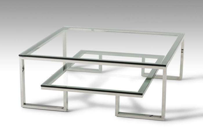 Topoi Modern Glass Coffee Table