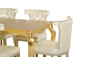 Golden Lacquer Dining Table