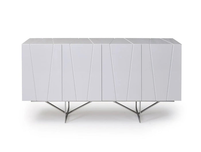 Vernity White Buffet Table