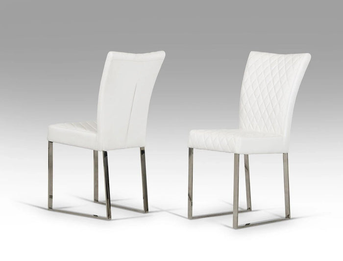 Chewyl Modern White Dining Chair (Set of 2)