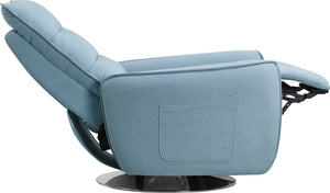 Divencci Modern Blue Fabric Recliner Chair