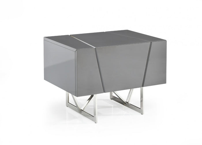Ceremy Modern Grey Nightstand