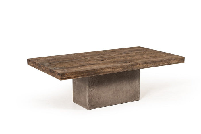 Renky Modern Oak & Concrete Coffee Table