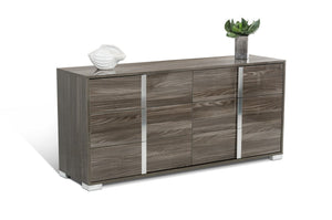 Mereve Modern Grey Bedroom Set