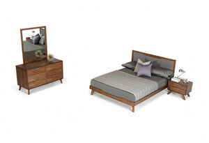 Sohu Modern Grey & Walnut Bedroom Set