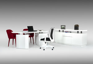 Stuii Modern White Office Desk