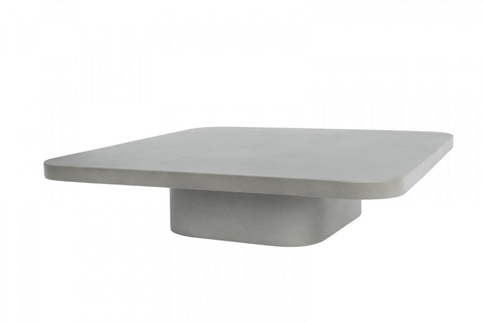 Fooden Modern Grey Concrete Coffee Table