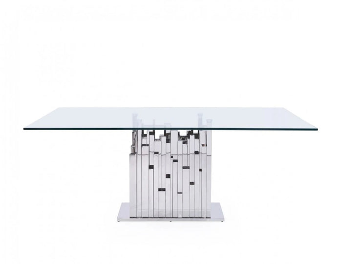 Edward Stainless Steel Dining Table