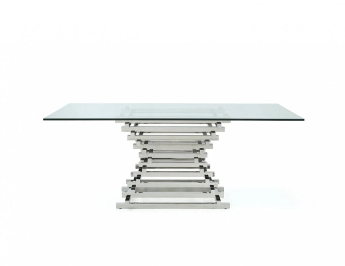 Creame Glass Dining Table