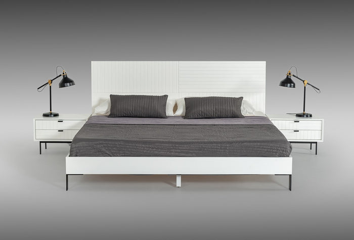 Vanity Contemporary White Bed