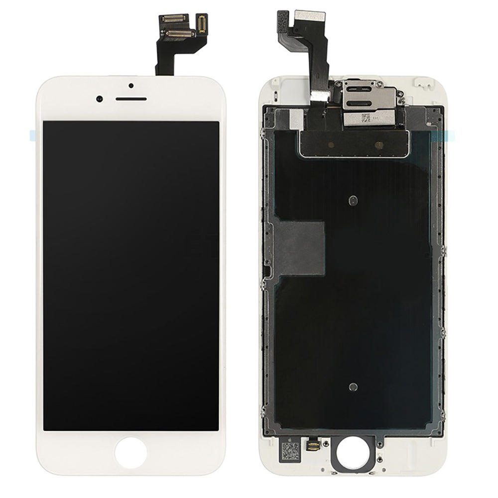 IPhone 6S LCD And Digitizer Glass Screen Replacement With Small Parts (White) (Original)