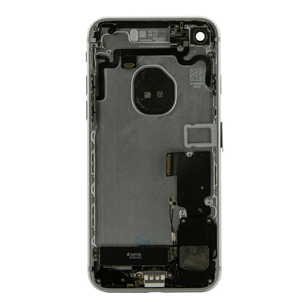 iPhone 7 Silver Rear Back Housing Midframe Assembly W/ Pre-Installed Small Parts