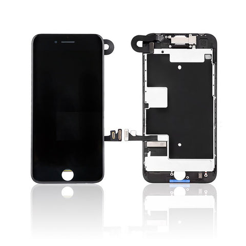 iPhone 8 LCD And Digitizer Glass Screen Replacement With Small Parts (Black) (PREMIUM)