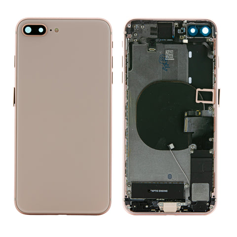 iPhone 8 Plus Rose Gold Rear Back Housing Midframe Assembly W/ Pre-Installed Small Parts