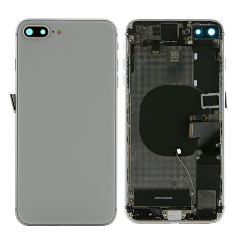 iPhone 8 Plus Silver Rear Back Housing Midframe Assembly W/ Pre-Installed Small Parts