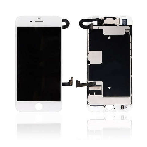 iPhone 8 LCD And Digitizer Glass Screen Replacement With Small Parts (White) (PREMIUM)