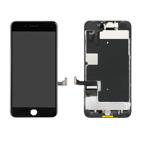 iPhone 8 Plus LCD And Digitizer Glass Screen Replacement With Small Parts (Black) (PREMIUM)