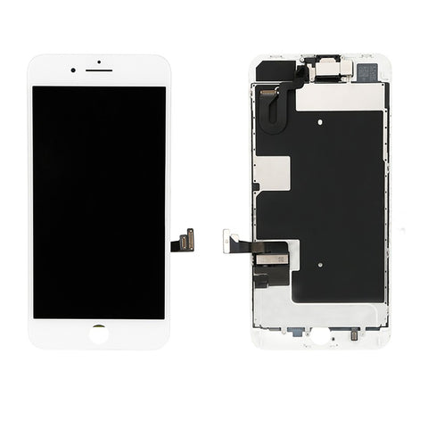 iPhone 8 Plus LCD And Digitizer Glass Screen Replacement With Small Parts (White) (PREMIUM)