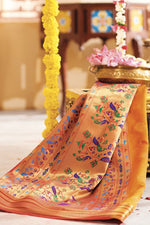 Load image into Gallery viewer, GOLD SILKY WOVEN PAITHANI SAREE
