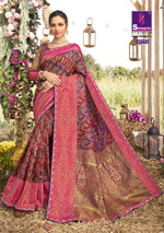 Load image into Gallery viewer, Multi color woven south silk saree