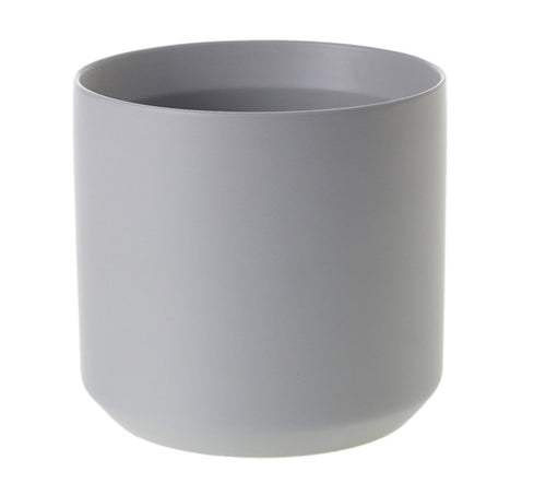 Matte Grey Ceramic Planter