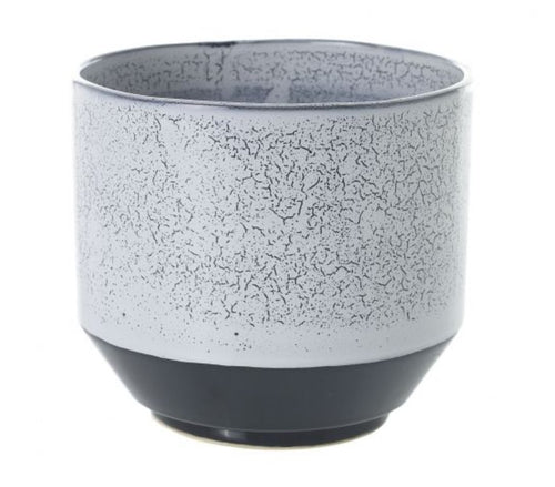 Blue Speckled Dip Planter