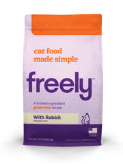 Freely Rabbit Dry Cat Food is Limited Ingredient and Grain Free