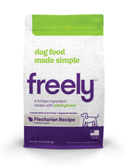 Freely Flexitarian Dry Dog Food is Limited Ingredient and Whole Grain