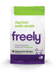 Freely Vegetarian Dry Dog Food is Limited Ingredient and Whole Grain